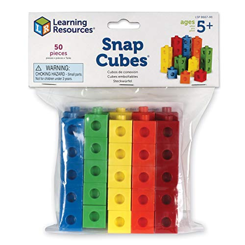 Learning Resources Snap Cubes, 50 Pieces, Multi