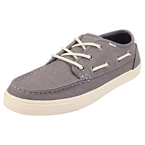 TOMS mens Dorado Boat Shoe, Grey, 11 US