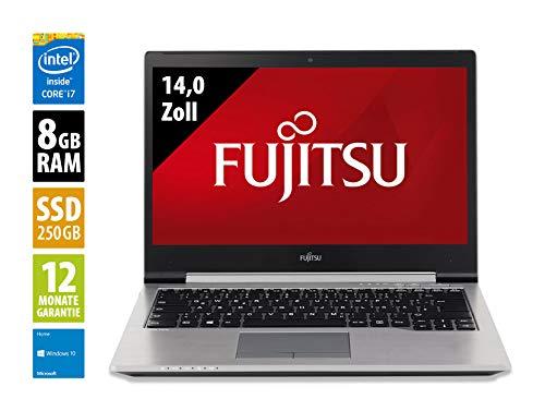 Fujitsu LifeBook U745-14,0 Zoll - Core i7-5600U @ 2,6 GHz - 8GB RAM - 250GB SSD - WSXGA (1600x900) - Webcam - Win10Home (Zertifiziert und Generalüberholt)
