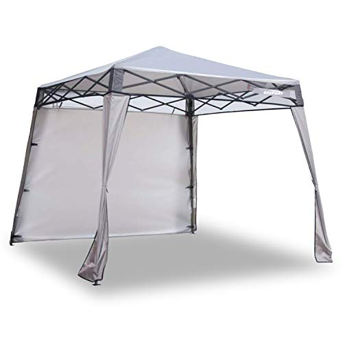 EzyFast Elegant Pop Up Beach Shelter, Compact Instant Canopy Tent, Patented Portable Sports Cabana, 7.5 x 7.5 ft Base / 6 x 6 ft top for Hiking, Camping, Fishing, Picnic, Family Outings (Khaki)