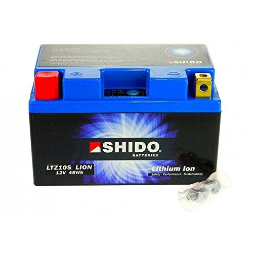 Shido LITHIUM-IONEN Batterie YTZ10S 12 Volt, SHIDO Motorrad Batterie | LiFePO4 | LI-YTZ10S passend für Yamaha YZF-R1 1000, 1KB8, RN225, Bj. 2012 [Preis ist inkl. Batteriepfand]