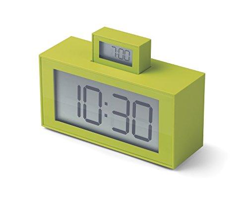 Lexon Inout-wekker, ABS-kunststof. 11,5 x 4 x 7,9 cm Anis