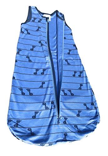 Ventilkappenkönig Baby Schlafsack Bio Baumwolle Strampelsack Pucksack Neugeborene Kleinkind 0-24 Monate Stern Vogel Ballon Dino Löwe Elefant 70cm (70cm, Blau Dino)