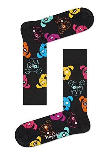 Happy Socks, bunt klassische Baumwolle Socken für Männer & Frauen, Black Dog (36-40)