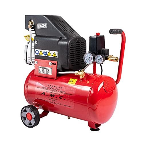 AMC Compressore aria da 25 litri pressione 8 bar elettrico coassiale 2...