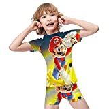 Super Mario Baby Boy Trunk Swimsuit Toddler Rashguard Swim Set Two Piece