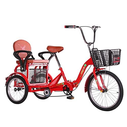 CHICTI Dreirad Für Erwachsene Erwachsenendreirad Shopping Mit Korb 3 Rad Fahrrad Doppelbremse Übung Einkaufen Picknick Draussen Aktivitäten