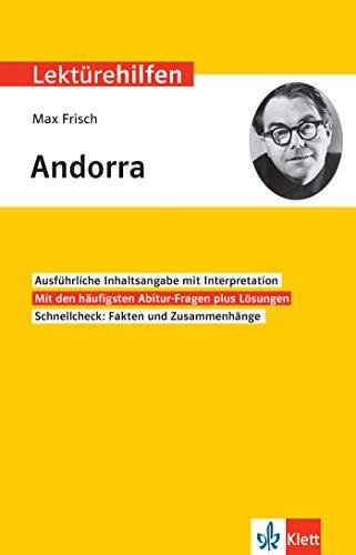 Klett Lektürehilfen Max Frisch, Andorra: Interpretationshilfe für Oberstufe und Abitur