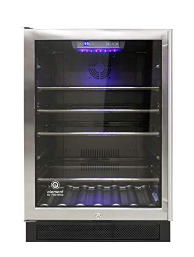 Vinotemp EL-46WCBCL Connoisseur Series 46 Single-Zone Beverage (Left Hinge) Refrigerator, Wine Cooler, One size, Black, stainless