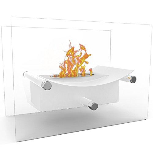 Regal Flame Arkon 通気口なし屋内屋外ファイヤーピット 卓上 ポータブルファイヤーボウルポット バイオエタノール暖炉 ホワイト - ジェル暖炉やプロパンファイヤーピットのようなリアルなクリーンな燃焼