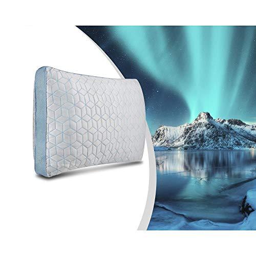 Dream House Kissen 4 Season Ice Cool 70 x 40 cm, kühl, ergonomisch, passt sich perfekt an Kopf und Nacken an, ideal für Menschen, die im Schlaf warm sind.