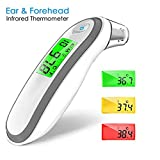 KACOOL Digital Infrared Thermometers for Fever, Ear and Forehead Medical Infrared Thermometer