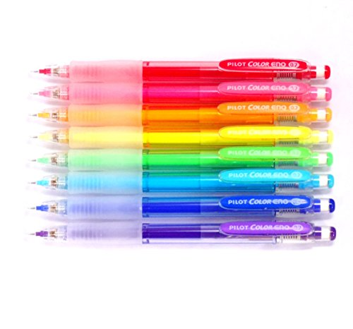 Pilot Color Eno Mechanical Pencil, 0.7mm, 8 color set (Japan Import) [Komainu-Dou Original Package]