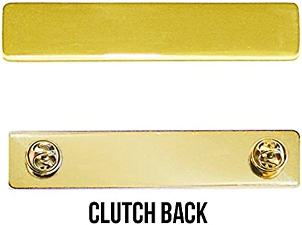 Engraved Metal Name Badges Engraved Metal Security Police Fire Military Nameplates Plain Gold Clutch Backing