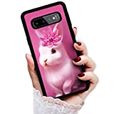 for Samsung S10e, Galaxy S10e, Art Design Soft Back Case Phone Cover, HOT12881 Pink White Bunny Rabbit 12881