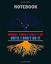 Notebook: nobody know what i do until i dont do it - 50 sheets, 100 pages - 8 x 10 inches