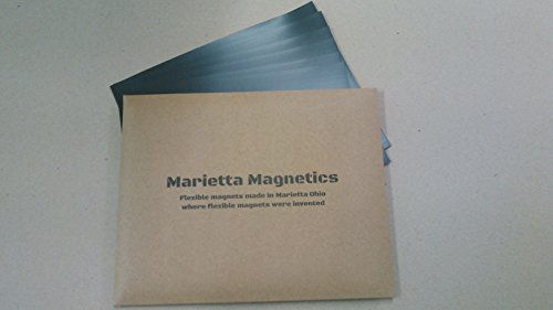 """Marietta Magnetics Adhesive Sheets 8.5"""" x 11"""" Pack of 10 Create Your own Magnet! Flexible Peel & Stick Self Adhesive for Photos Crafts Stamp Dies Signs & More"""