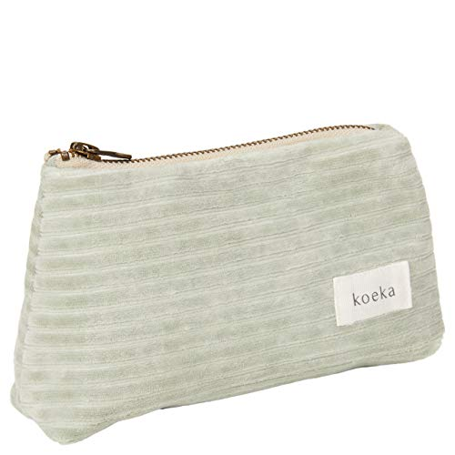 Koeka - Etui Vik - Speziell Für Mütter - Aufbewahrungsbeutel Für Kleine Kinder Gegenstände - Mit Reißverschluss - Grün - 18 X 6 X 11 Cm