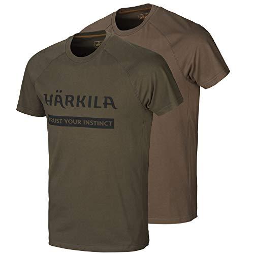 Härkila Juego de 2 camisetas con logotipo para cazadores, en dos colores...