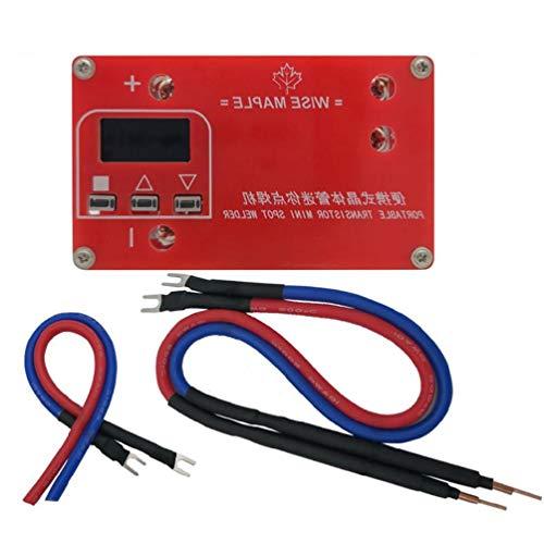 Mcbeitrty Transistor portátil DIY mini máquina de soldadura por puntos 18650 batería de litio pantalla LCD Spot Soldador