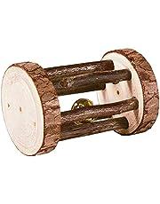 Trixie 61654 Rolka z Dzwonkiem do Zabawy dla Królików i Gryzoni, ø 5 × 7 cm, Brązowy