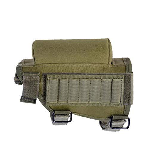 Suministros Culata Del Rifle Munición Titular Estratégica Mejilla Cojín Multifuncional Cartuchos Titular Utilidad Ejército Bolsa Verde Al Aire Libre