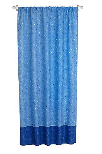 Disney Mickey Mouse Playground Pals Curtain Panel, Blue