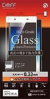 Deff Xperia Z5 対応 液晶 保護 ガラス フィルム プレート のぞき見防止 プライバシー タイプ/High Grade Glass Screen Protector/DG-XZ5V3F (ホワイト枠)