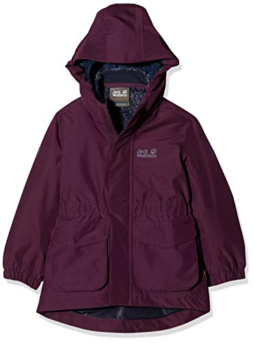 Jack Wolfskin Mädchen Ice CAVE 3IN1 Jacket Girls 3in1-jacke, aubergine, 116