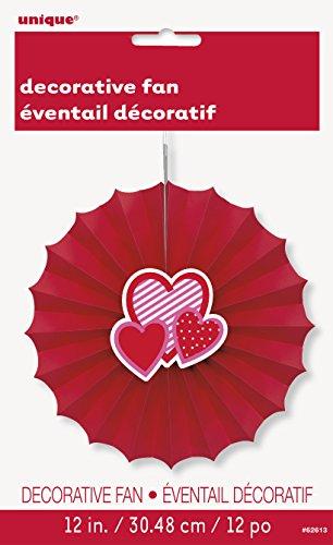 Unieke partij 62613-30cm Valentine hart Tissue papier decoratieve ventilator