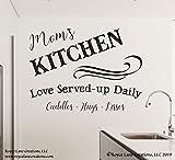 Kitchen Quote Decal Moms Kitchen Sign Kitchen Sayings Decal Family Kitchen Wall Decal Moms Kitchen Decal Kitchen Wall Decal