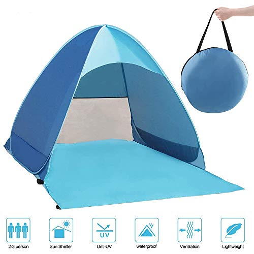 ZhaoLiang Pop Up Tent, Beach Camping Tent Foldable Outdoor UV Lightweight Waterproof tent as Sun Shelter Children Family and Dog on Garden, Beach