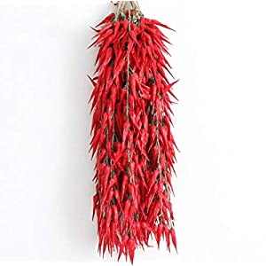 sexyrobot Red Chili Fake Peppers Artificial Lifelike Fake Vegetable String Faux Lifelike Plants Hanging for Mother's Day Decoration,Home Kitchen Christmas Wall Decor-10 Strings