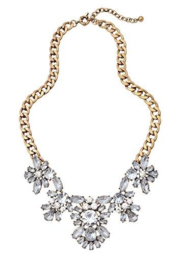 Happiness Boutique Collana Statement Fiori Colore Chiaro | Collana XXL Matrimonio in Oro Vintage Senza Nickel