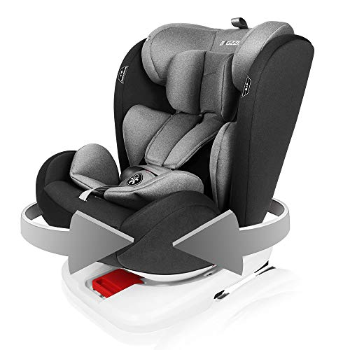 Car Seat Child ISOFIX Baby Car Seat 360 Swivel Booster Seat for Group 0+/1/2/3 (0-12 Years, 0-36 kg)