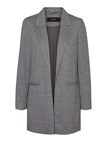 VERO MODA Damen Blazer Long 36Dark Grey Melange