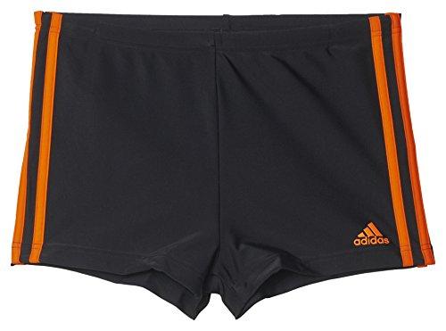 adidas Herren Badeshorts I 3S Boxer Badehose, Black/Orange, 5