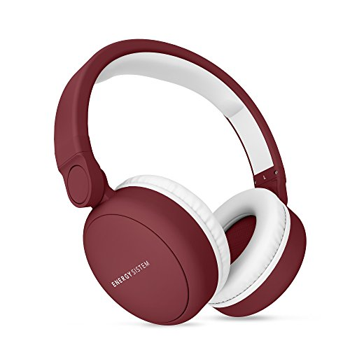 Energy Sistem Headphones 2 Bluetooth(Auriculares inalambricos,Circumaural, Plegable, bateria Recargable,Audio-in) Ruby Red