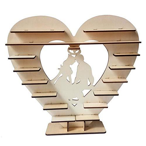 Soporte de madera para exhibir chocolates Ferrero Rocher en forma de corazón para dulces, chocolate, tartas, dulces, decoraciones para banquetes de boda, fiestas, aniversarios Bride_and_groom