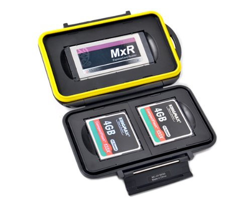 Speicherkarten Schutzbox für 1 Stück SXS und 2 Stück CF Karten - Wasserdicht