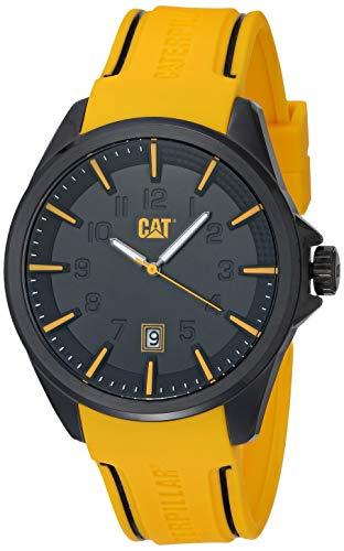 Caterpillar NO16127127 Reloj Caterpillar para Hombre de Caucho for Hombre, Amarillo, Hombre Estándar