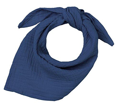 Blausberg Baby - Sciarpa triangolare in mussola baby sciarpa bavaglino neonato foulard al nodo (Blu) - materiali certificati OEKO-TEX® Standard 100 - fatti ad Amburgo