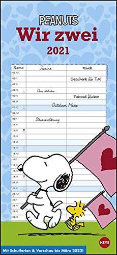 Peanuts Planer Wir zwei Kalender 2021