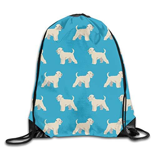 GMGMJ Mochila de trigo irlandés con cordón para perro, deporte, yoga, bolsa de hombro, para senderismo, viajes al aire libre