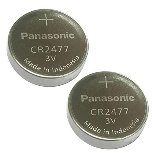 Panasonic CR2477 3V Lithium Zelle Batterie (2 Stück)