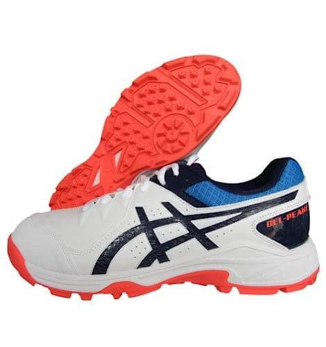 ASICS Unisex-Adult Gel-Peake White/Peacoat Leather Cricket Shoes-8 UK (1113A023)
