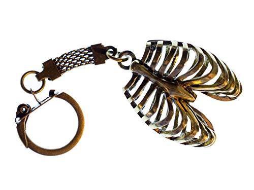 Miniblings Rippen Schlüsselanhänger Brustkorb Medizin Mensch Lunge Metall Bronze