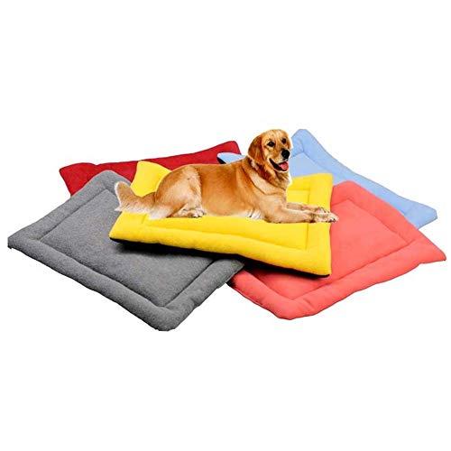 Homieco Haustier Matten Bett für Hund Katze Schlafen weiche warme Hundekissen Haustiere Kennel Pads Outdoor Indoor-Einsatz, L/Grau