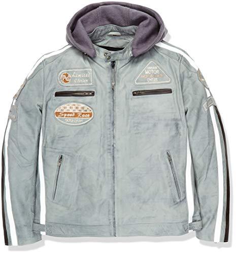Chaqueta Moto Hombre en Cuero Urban Leather '58 GENTS' | Chaqueta Cuero Hombre |...