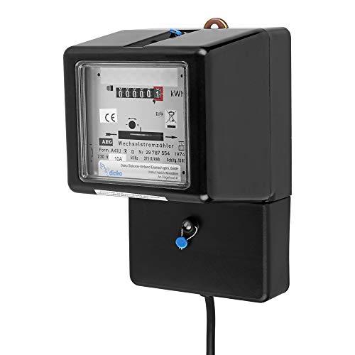 REV 0515472555 Wechselstrom, Zwischenzähler mit Stecker f. Steckdose,ungeei., 1,5m, schwarz